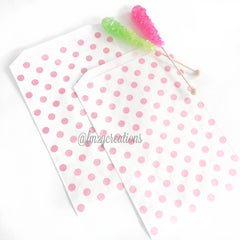 POLKA DOT FAVOR BAGS: PINK POLKA DOT (LARGE) - From Me 2 You Creations