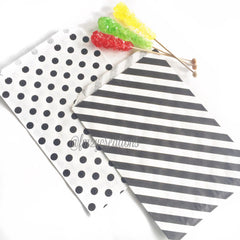 POLKA DOT FAVOR BAGS: BLACK POLKA DOT (LARGE) - From Me 2 You Creations