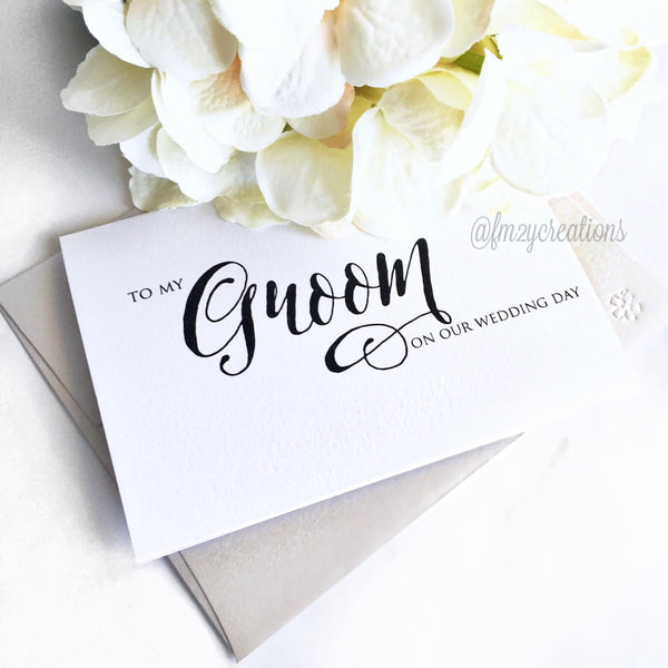 THANK YOU WEDDING CARD | GROOM