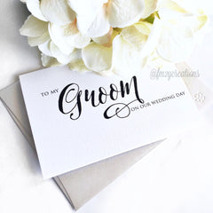 THANK YOU WEDDING CARD | GROOM - From Me 2 You Creations