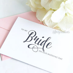 THANK YOU WEDDING CARD | BRIDE - From Me 2 You Creations