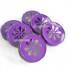 MASON JAR DAISY LIDS: PURPLE - From Me 2 You Creations