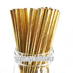 SOLID PAPER STRAWS: Gold Foil - From Me 2 You Creations