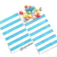POLKA DOT PAPER STRAWS: Aqua - From Me 2 You Creations