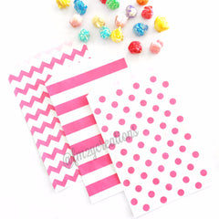 POLKA DOT PAPER STRAWS: Light Blue w/Pink - From Me 2 You Creations