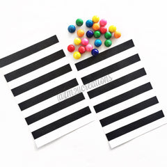 VINTAGE LONG STRIPE PAPER STRAWS: Black - From Me 2 You Creations