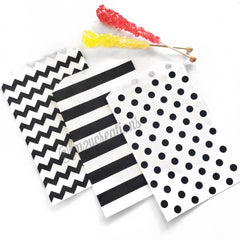POLKA DOT PAPER STRAWS: Light Pink w/ Black