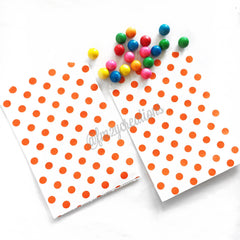 POLKA DOT PAPER STRAWS: Orange - From Me 2 You Creations