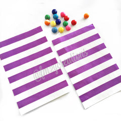 STRIPE PAPER STRAWS: Purple - From Me 2 You Creations