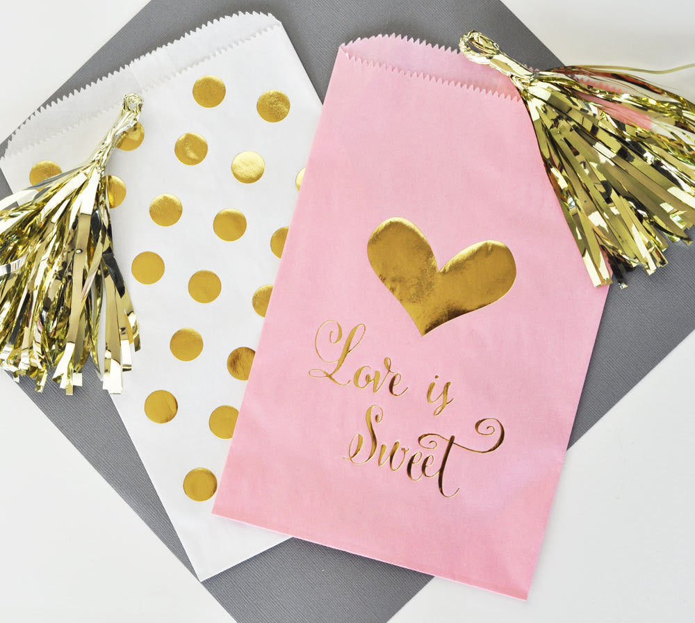 WEDDING FAVOR BAGS: LOVE IS SWEET – From Me 2 You Creations