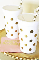 PARTY NAPKINS: Gold Polka Dot - From Me 2 You Creations