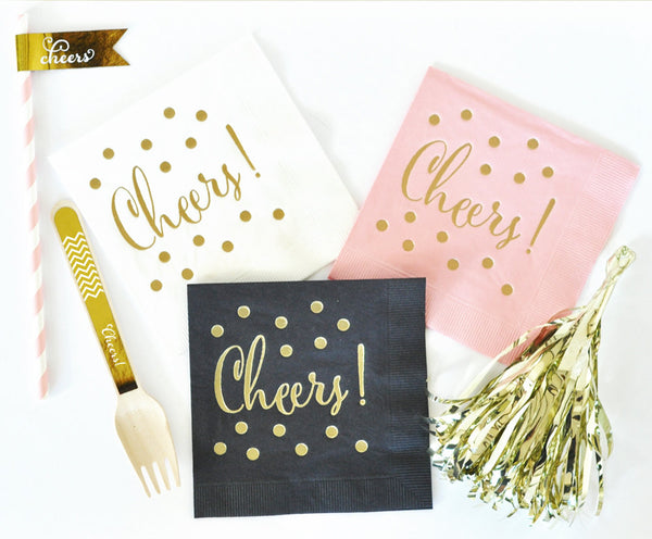 PARTY NAPKINS: CHEERS