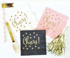PARTY NAPKINS: CHEERS - From Me 2 You Creations