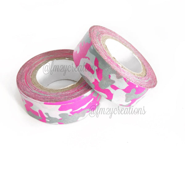 WASHI TAPE: PATTERN PINK CAMOUFLAGE