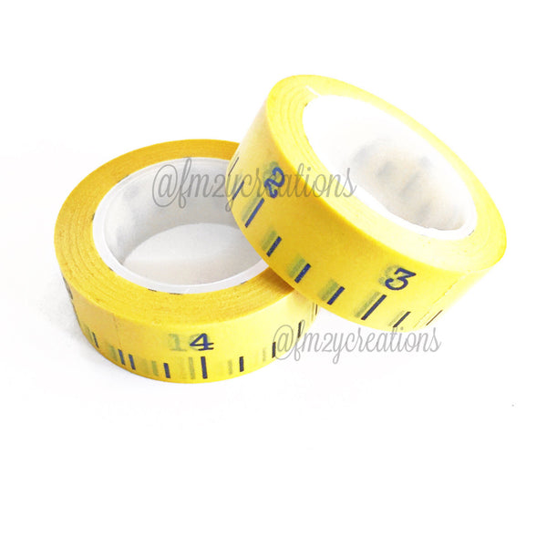 WASHI TAPE: PATTERN Yellow Measuring Tape