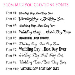 Tumbler Set: Personalized Bridal Party and Date - From Me 2 You Creations