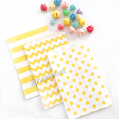 STRIPE FAVOR BAGS: YELLOW - From Me 2 You Creations