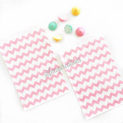 CHEVRON FAVOR BAGS: LIGHT PINK - From Me 2 You Creations