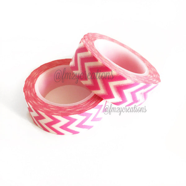 WASHI TAPE: Chevron Pink