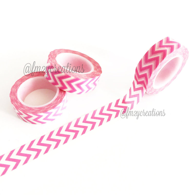 WASHI TAPE: Chevron Pink - From Me 2 You Creations