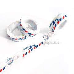 WASHI TAPE: PATTERN Red|White|Blue Air Mail - From Me 2 You Creations