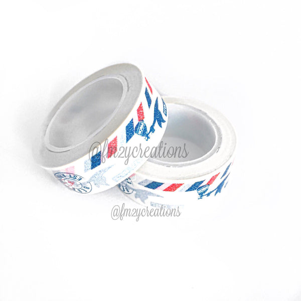 WASHI TAPE: PATTERN Red|White|Blue Air Mail