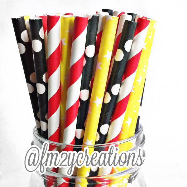 COMBO PAPER STRAWS: Mickey Mouse Party