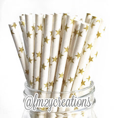 STAR PAPER STRAWS: Gold - From Me 2 You Creations