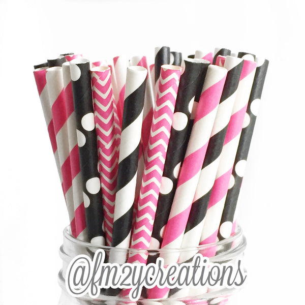 COMBO PAPER STRAWS: Minnie Mouse | Bachelorette Party