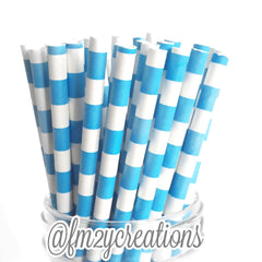 CIRCLE PAPER STRAWS: Blue - From Me 2 You Creations