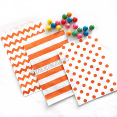 STRIPE PAPER STRAWS: ORANGE|BLACK