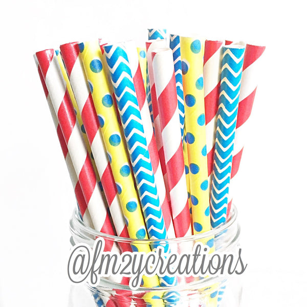 COMBO PAPER STRAWS: Snow White Party