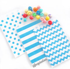 POLKA DOT PAPER STRAWS: Light Blue Large - From Me 2 You Creations