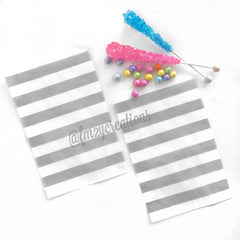 CIRCLE PAPER STRAWS: Gray - From Me 2 You Creations