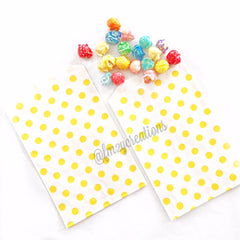 POLKA DOT PAPER STRAWS: Yellow - From Me 2 You Creations