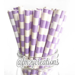 CIRCLE PAPER STRAWS: Light Purple - From Me 2 You Creations