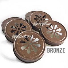 MASON JAR DAISY LIDS:  BRONZE - From Me 2 You Creations