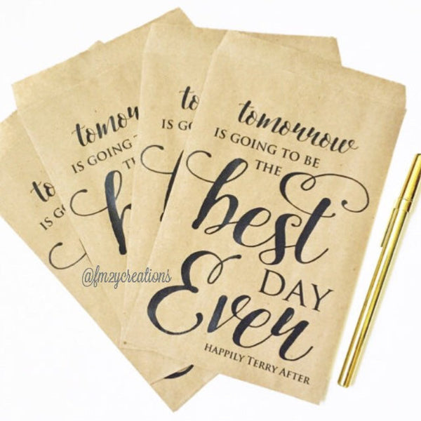 WEDDING FAVOR BAG: BEST DAY EVER