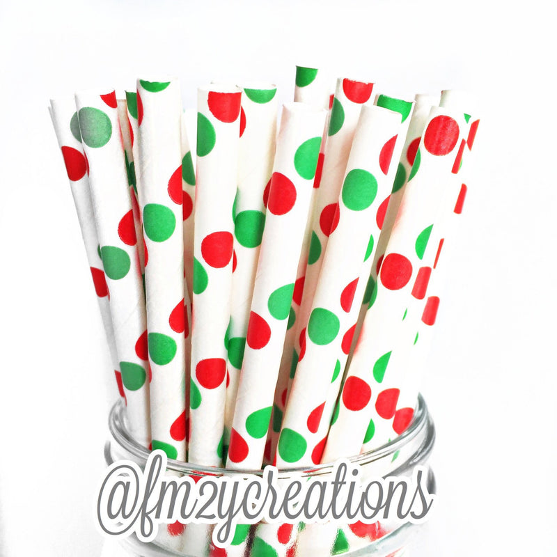 HOLIDAY FAVOR BAGS: RED | GREEN POLKA DOT - From Me 2 You Creations