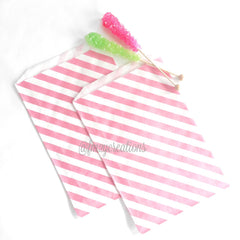 STRIPE FAVOR BAGS: LIGHT PINK (LARGE) - From Me 2 You Creations