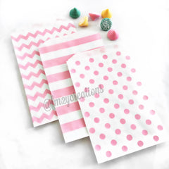 POLKA DOT FAVOR BAGS: LIGHT PINK - From Me 2 You Creations