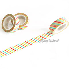 WASHI TAPE: STRIPE PASTEL - From Me 2 You Creations