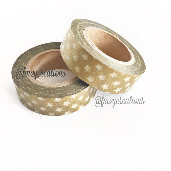 WASHI TAPE: STARS GOLD