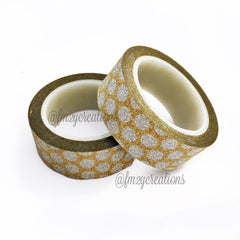WASHI TAPE: GLITTER GOLD - From Me 2 You Creations