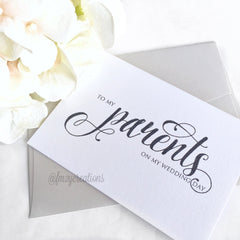 THANK YOU WEDDING CARD | PARENTS - From Me 2 You Creations