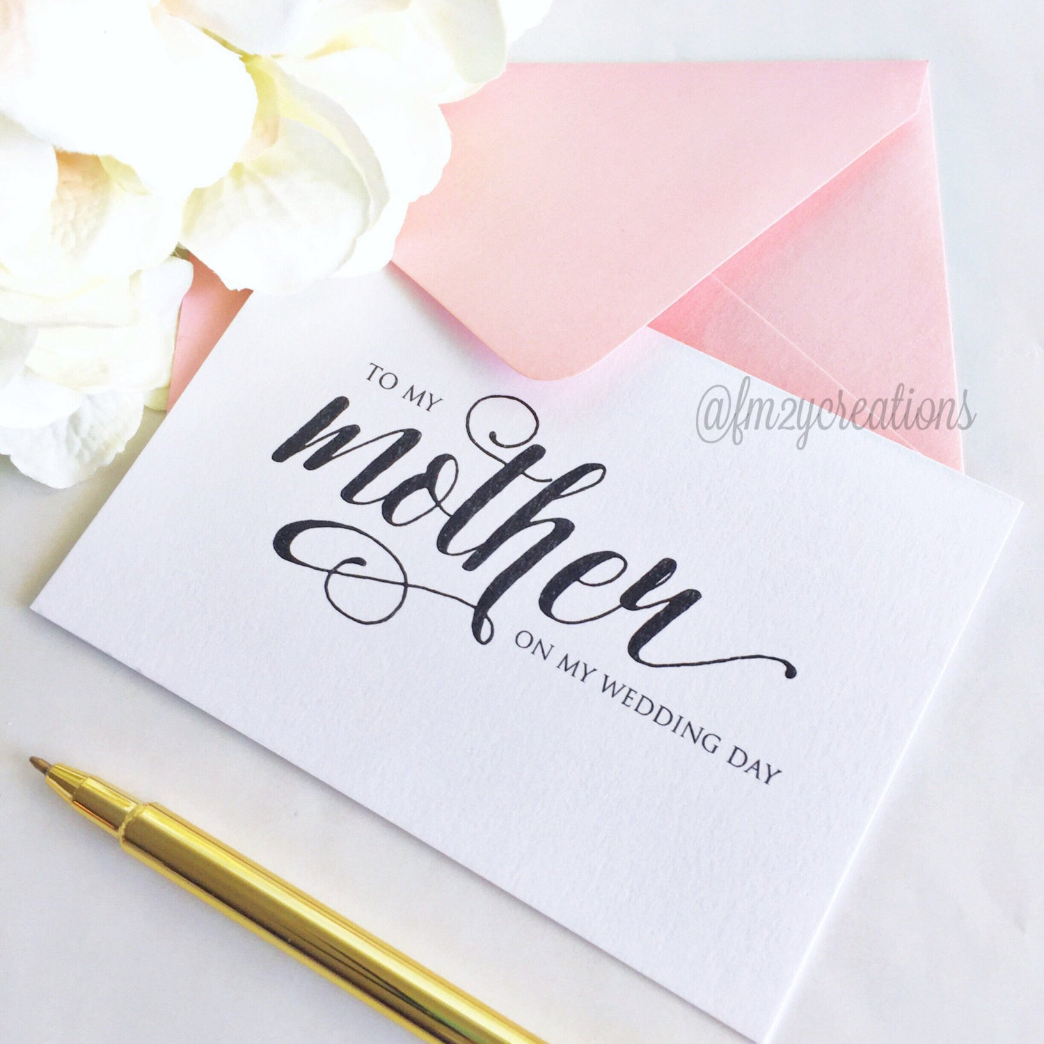 THANK YOU WEDDING CARD | PARENTS – From Me 2 You Creations