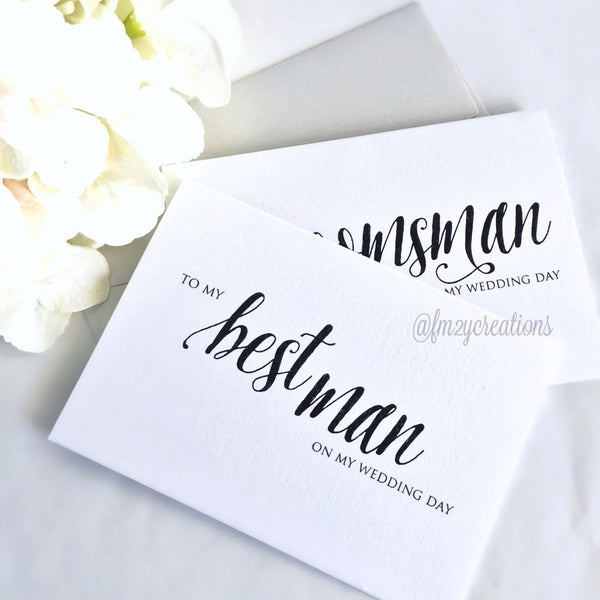 THANK YOU WEDDING CARD | BEST MAN