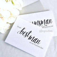 THANK YOU WEDDING CARD | GROOMSMAN - From Me 2 You Creations