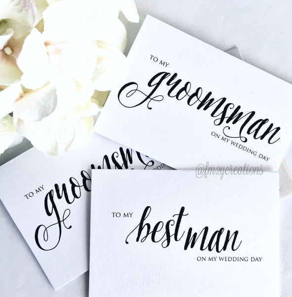 THANK YOU WEDDING CARD | GROOMSMAN