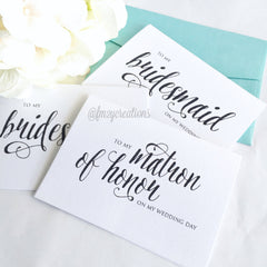 THANK YOU WEDDING CARD | BRIDESMAIDS - From Me 2 You Creations
